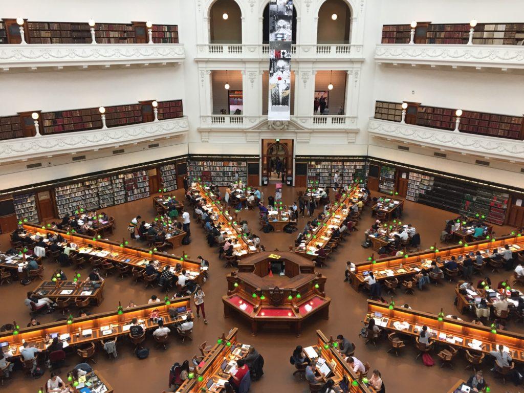 メルボルン 観光 ビクトリア州立図書館