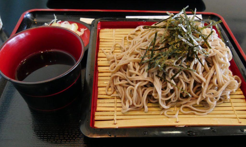 東武日光駅で食べたそば